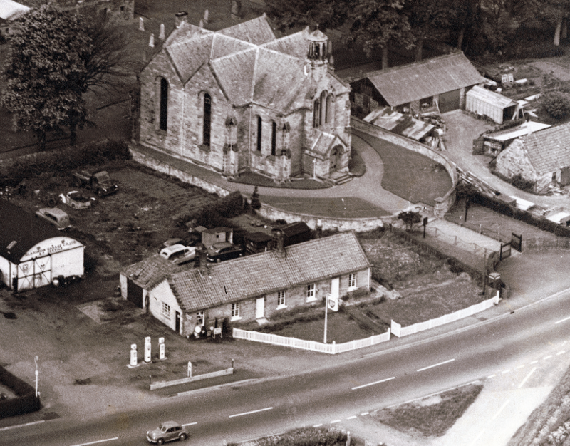 Aerial view of Gladsmuir village