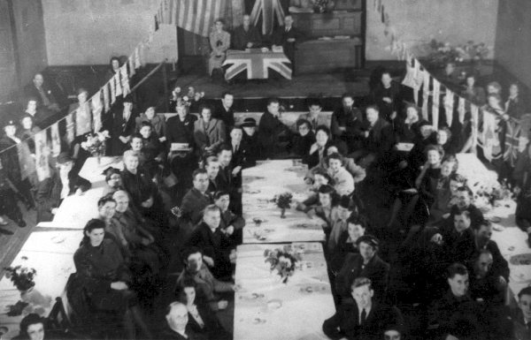 'Welcome home from the war' party, Haddington Corn Exchange