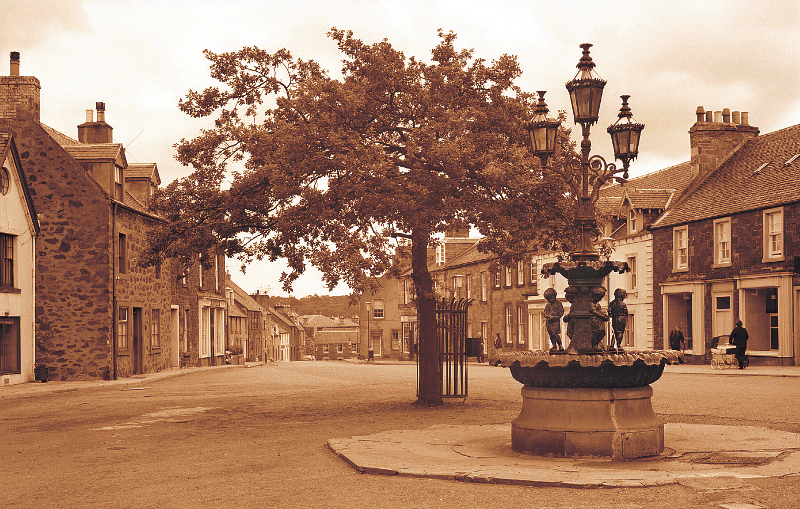 Fountain, East Linton, looking north, c1970