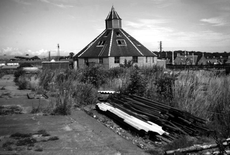Old auction mart, East Linton, 1967