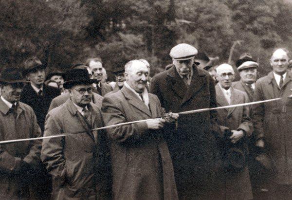 Official opening of the Whiteadder Reservoir scheme 31 October 1955