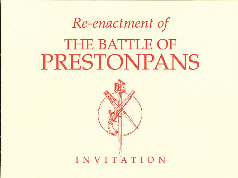 Invitation to commemoration of Battle