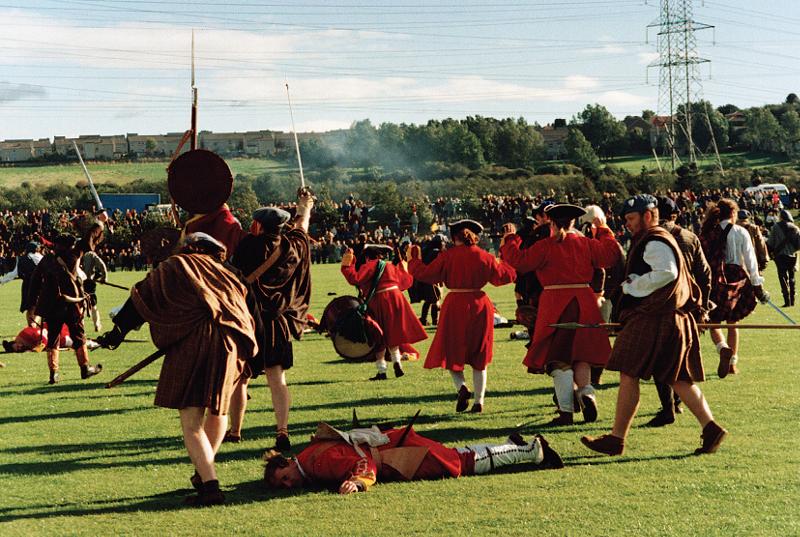 Re-enactment of the Battle of Prestonpans, 1995