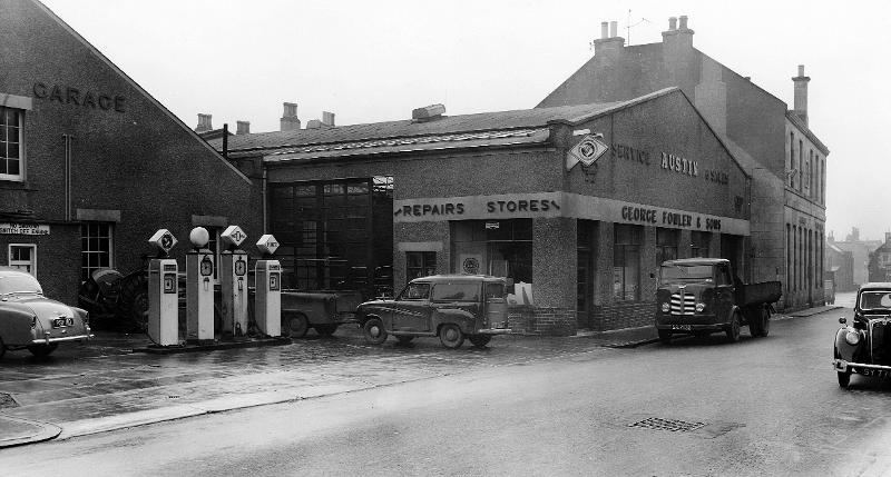 Rear of East End Garage in the 1950s