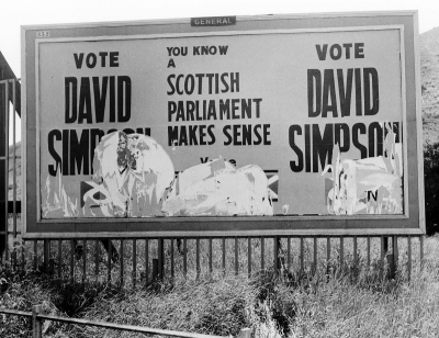 SNP Election Poster, Meadowmill 1970 (Gordon Collection)