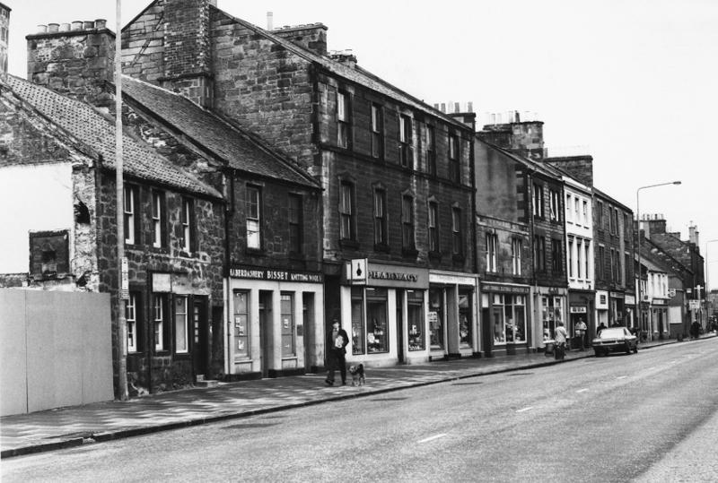 North High Street, looking towards Brunton Hall, 1976