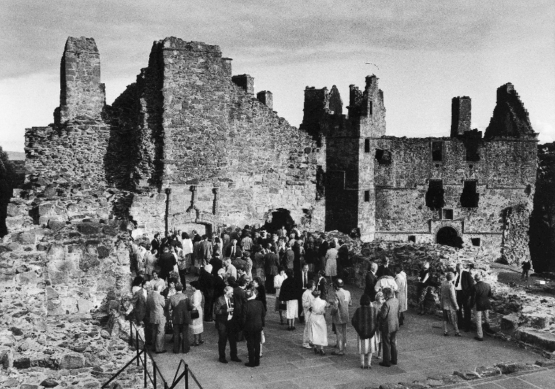 Reception at Dirleton Castle for Open Golf Championships,  1980.
