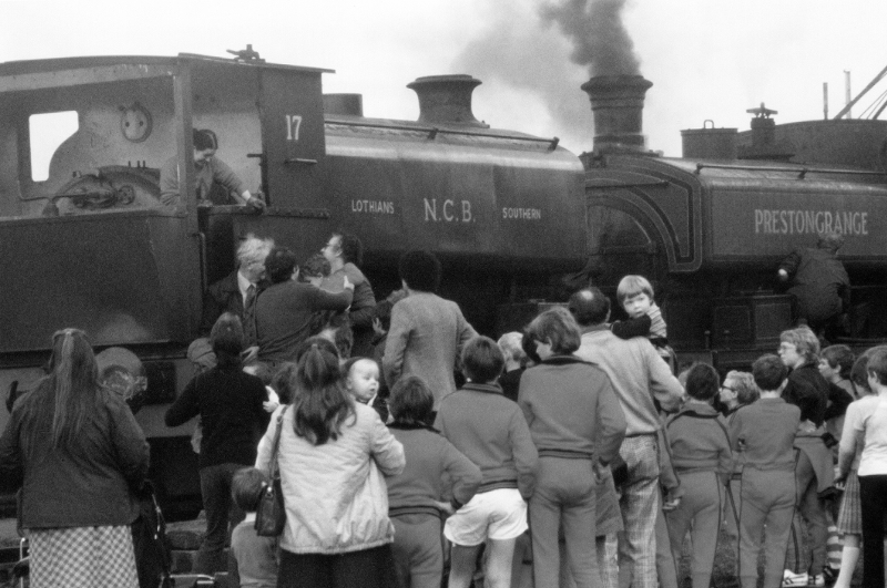 Visitors at Prestongrange, 1980s
