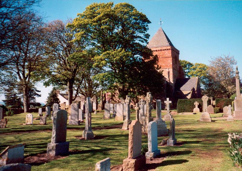 St Mary's Parish Church and graveyard, Whitekirk.