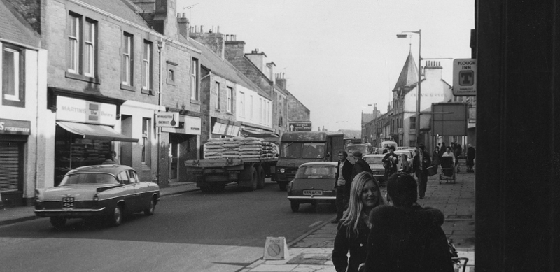 Tranent High Street,  early 1970s